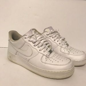 Men's White Air Force ones low size 10